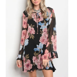 Boho Floral Print Dress size MEDIUM